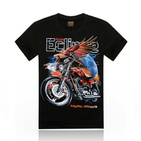 motorcycle eagle new black t shirt 100 percent cotton