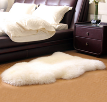 China wholesale shappy sheepskin wool home baby rugs carpets for living