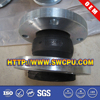 Single-bellow flange type rubber expansion joints