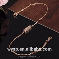 Fashion Blank Gold Bracelet Design Jewelry Genius Steal With Stainless Steel Bar Anklet For Women
