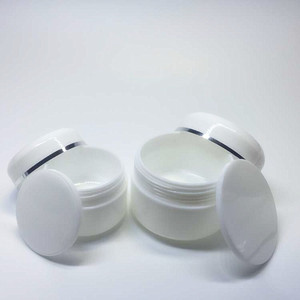 20g 50g 100g 8 oz 250g refillable makeup cosmetic face cream white plastic jars with dome lid