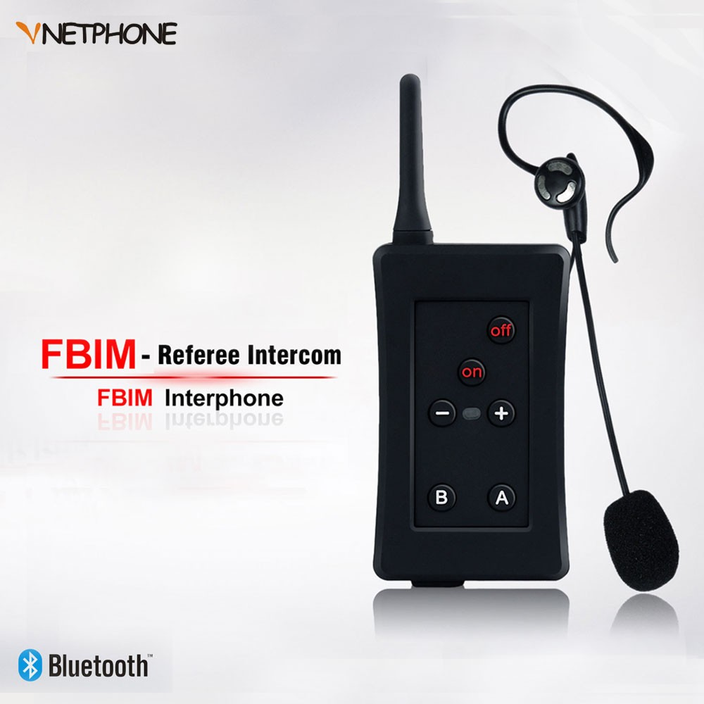 Vnetphone FBIM 4 Referee 1200m Full Duplex Talking Wireless Bluetooth Communication Referee Interphone