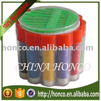 sewing kit in round box