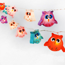 New Product Paper Owl Christmas Decoration String Light