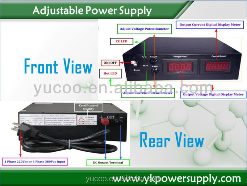 120V Output High Voltage Adjustable DC Power Supply