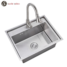 Wholesale Handmade China Custom Made Unique Weight Freestanding Kitchen Sinks Tap Stainless Steel Prices