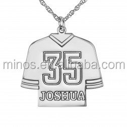 2016 hot selling stainless steel jewelry Personalized Hockey Jersey Pendant necklace