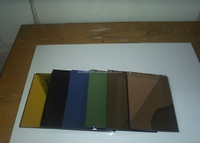 Factory price Colored/Tinted color mirror glass for building decoration