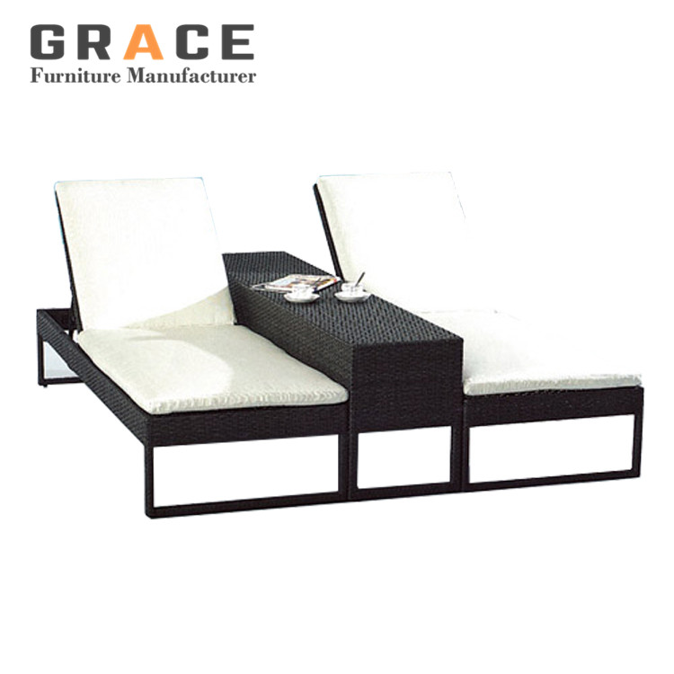 people lounger furniture resin rattan double sun lounger buy resin