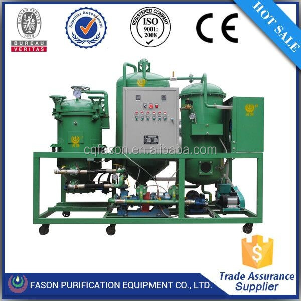 Double control system waste car engine oil regeneration