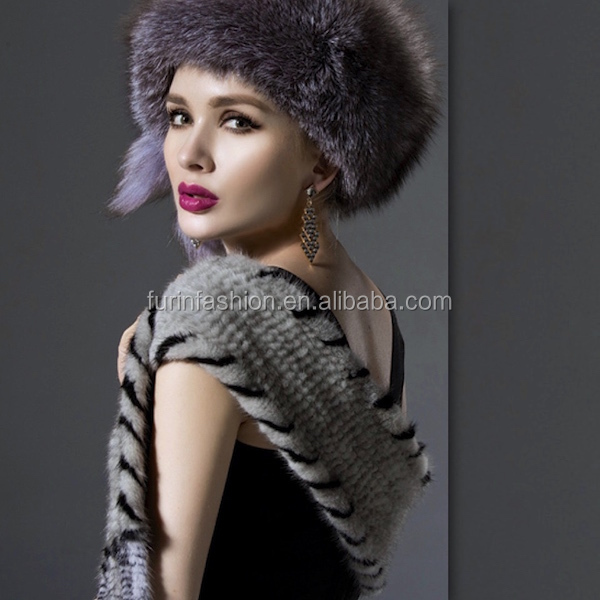2017/2018 Fashion Knitted Mink Fur Scarf/Scarves/Collaret
