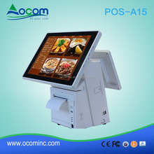 "15.6"" Windows Android all in one touch screen pos terminal cheap with thermal printer"