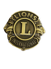 metal custom lions club car emblem and logo