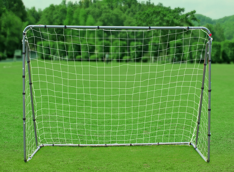 2 in 1 Portable folding Metal soccer Goal with target soccer goal