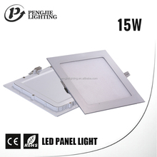 High quality SMD color changing indoor square 15w led panel light