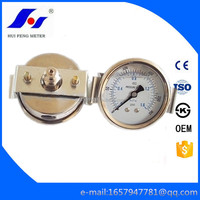 Dry 0-230psi/MPa Manometer with U Clamp Bourdon Tube All SS Glycerine Filled Gas Pressure Gauge