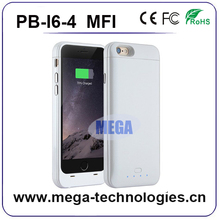 MFI battery case for iphone 6 , Real 3200mAh Li-Polymer Battery full charger 120%
