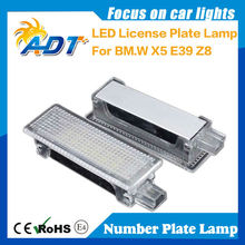 High Quality LED Licence Plate Light With Standard Bracket for E53(X5), E39, Z8 (E52),car led tail light