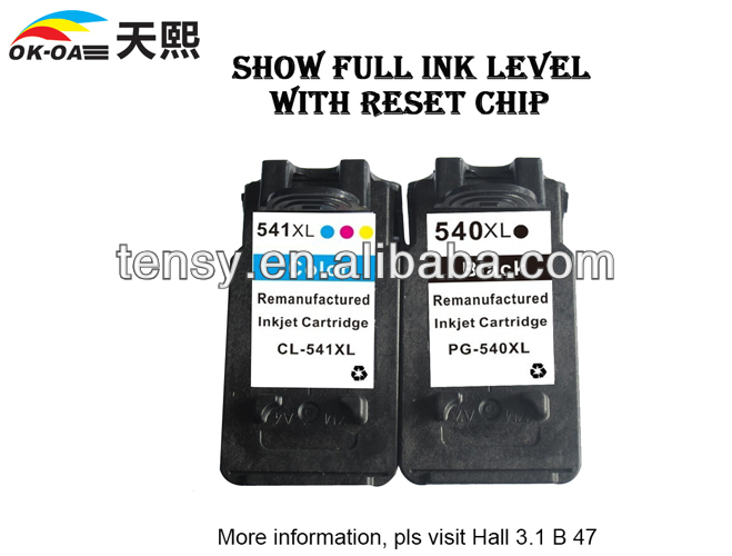 High quality refilled ink cartridge for Canon 540 541