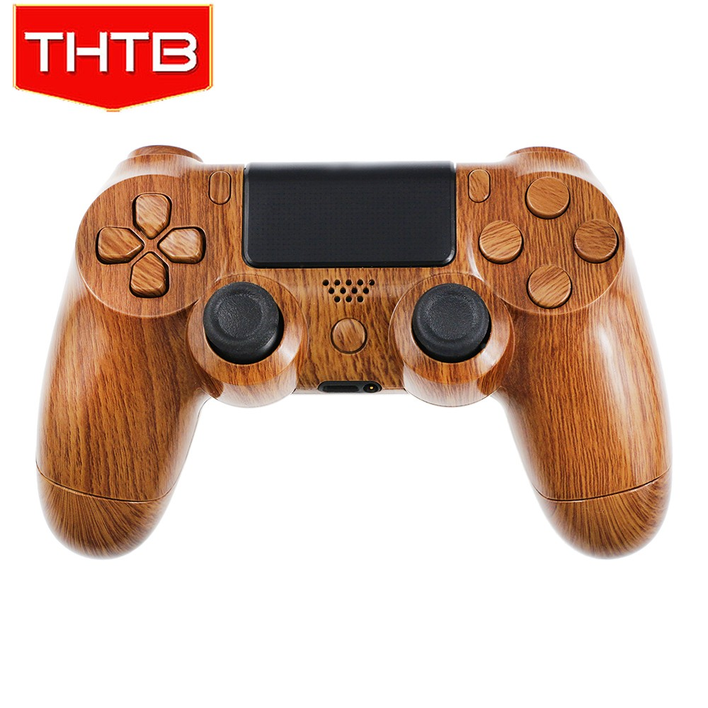 THTB classic design wooden hydro dipped shell for ps4 controller case