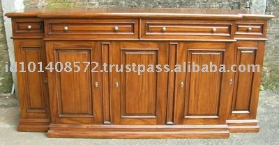 5 Door Buffet Mahogany Indoor Furniture