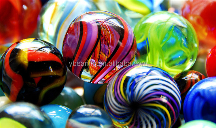 Customized colorful OR transparent playing or industrial large glass marbles