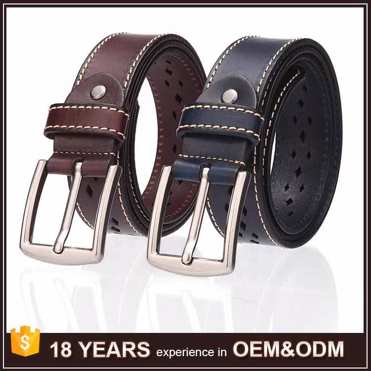 Factory Wholesale Strong Pin Buckle Belts Leather Men Genuine