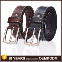 Genuine Factory Wholesale Strong Pin Buckle Belts Leather Men