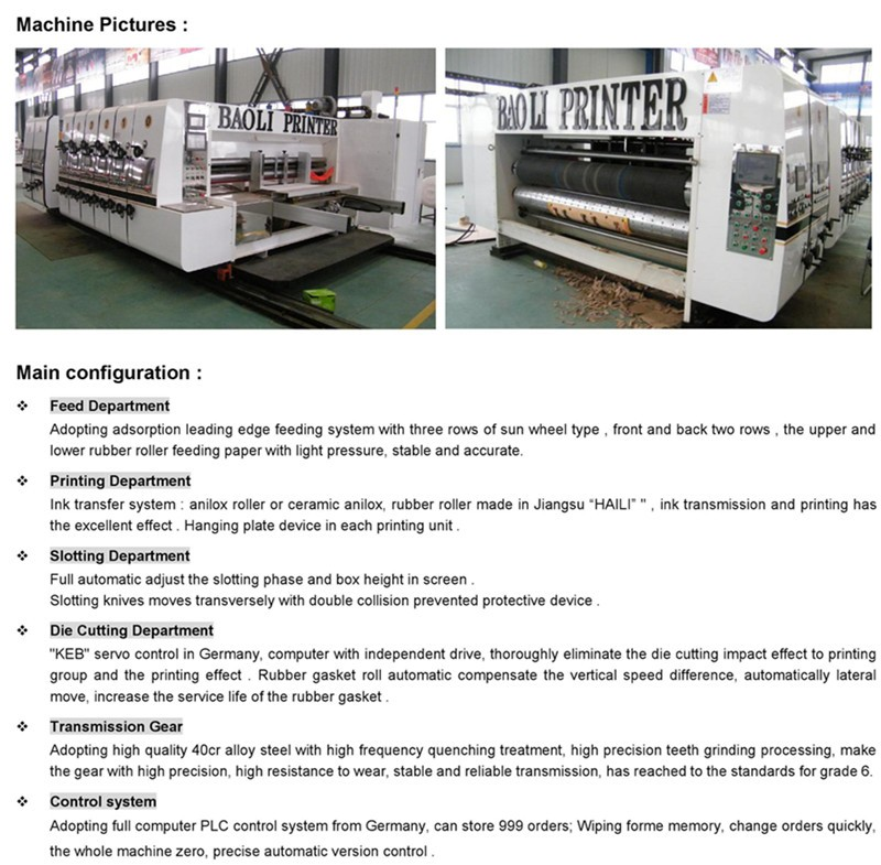 full automatic fruit box package printing slotting forming machine