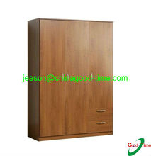 simple wooden clothes wardrobe design with drawers
