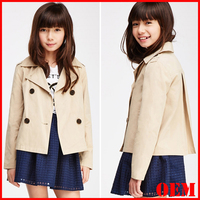 Fashion classic shoulder long sleeve trench coat for sweet girl