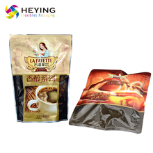 three-layer laminated stand up pouch plastic coffee food aluminum foil packaging bag