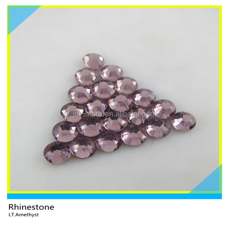 Wholesale 2016 Cheap Flat Back Crystal SS40 Lt. Amethyst Rhinestones for Clothing Decoration