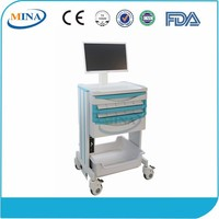 MINA-M02 Luxurious hospital medical rolling carts with computer
