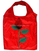 New Style rose shape Foldable Shopping Bag