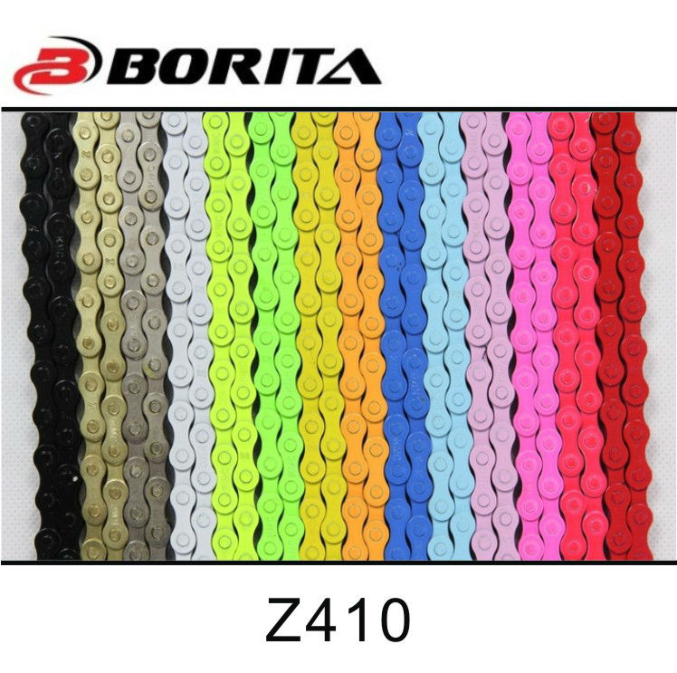 Multicolors Bicycle Chain for Fixed Gear Bike KMC Z410