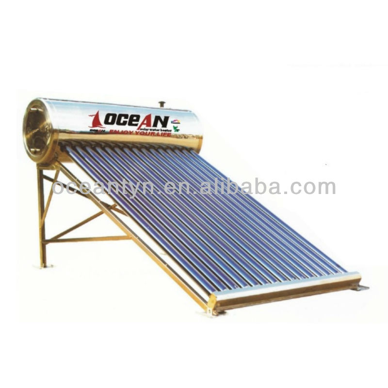 Outlet hot selling stainless steel low pressure solar water heater, solar thermal system