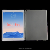Simple Frosted Transparent Soft Jelly Clear TPU Gel Case Back Cover For Apple ipad Pro 12.9""