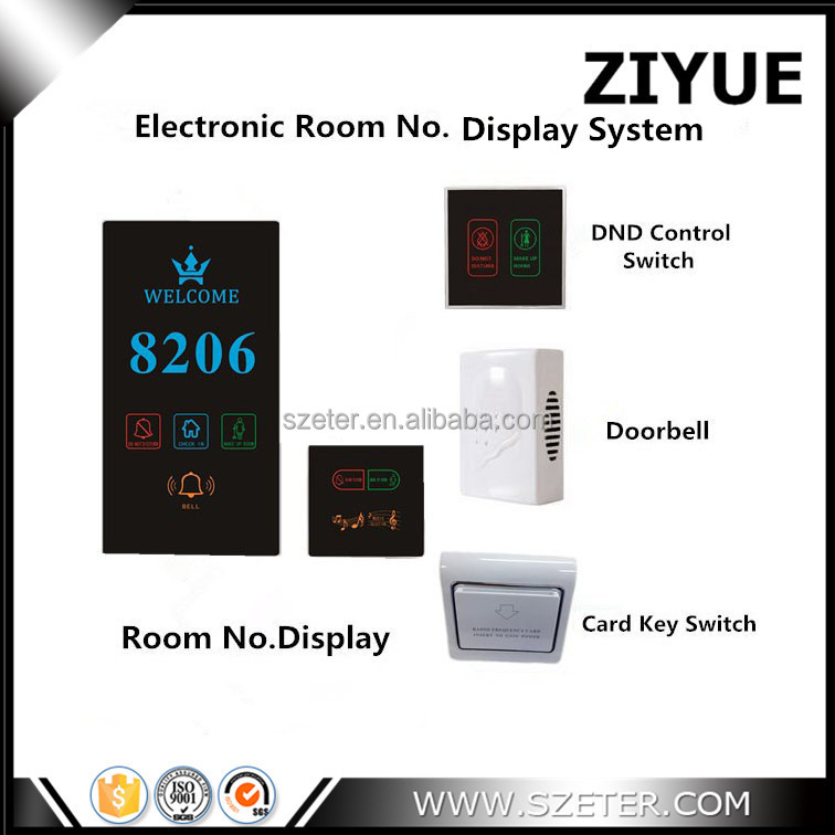 LED light Hotel Doorbell Switch with Don't Disturb Make Up Room Indicator