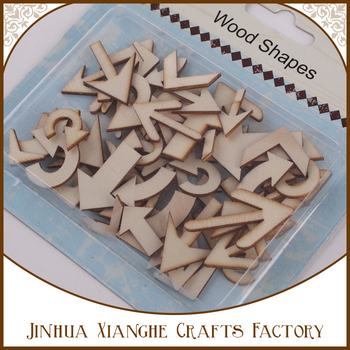 Factory Direct Sale Assorted Wood Arrow Shapes DIY Wooden Decorations