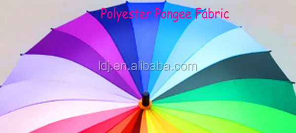 RPET Umbrella Fabric / Polyester Pongee Fabric/Waterproof fabric