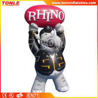 hot sale Inflatable Rhino Radio cartoon model, inflatable advertising replica