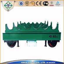 electric platform car with rail for transport goods/flat rail car