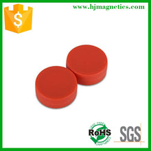 small round colored decorative magnet