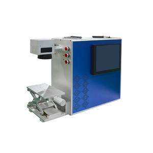 Portable design 50w jewelry fiber laser engraving machine for gold and silver accessories name and number marking