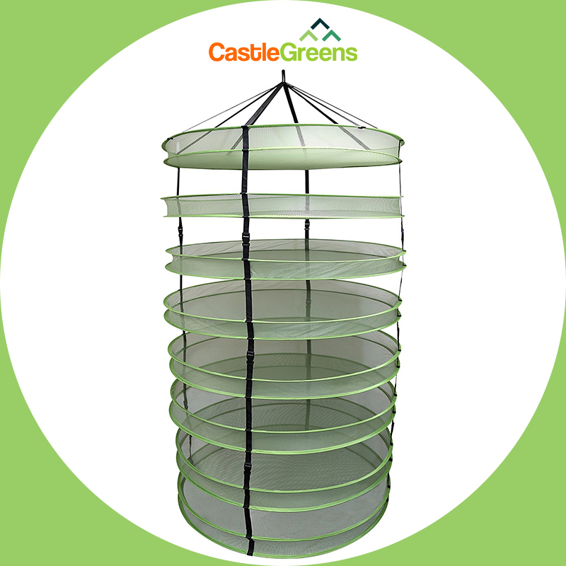 Greenhouse Indoor growing system collapsible herbal drying net