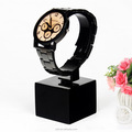 Black acrylic c stand for watches,watch display holder counter