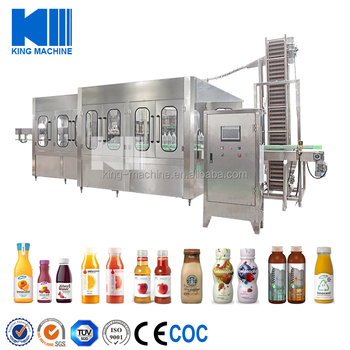 Complete fresh fruit juice filling machine
