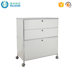 Steel filing mobile bulk storage filing cabinet with caster wheel