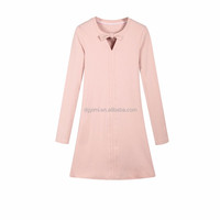 knitted japan style pink dress